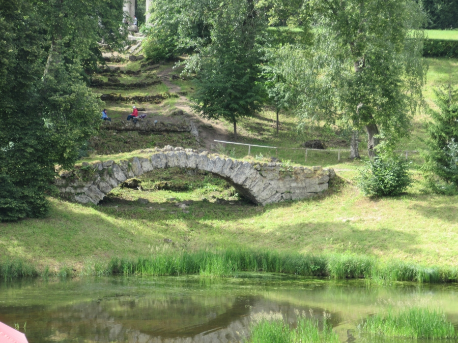 Old bridge in Pavlovsk.