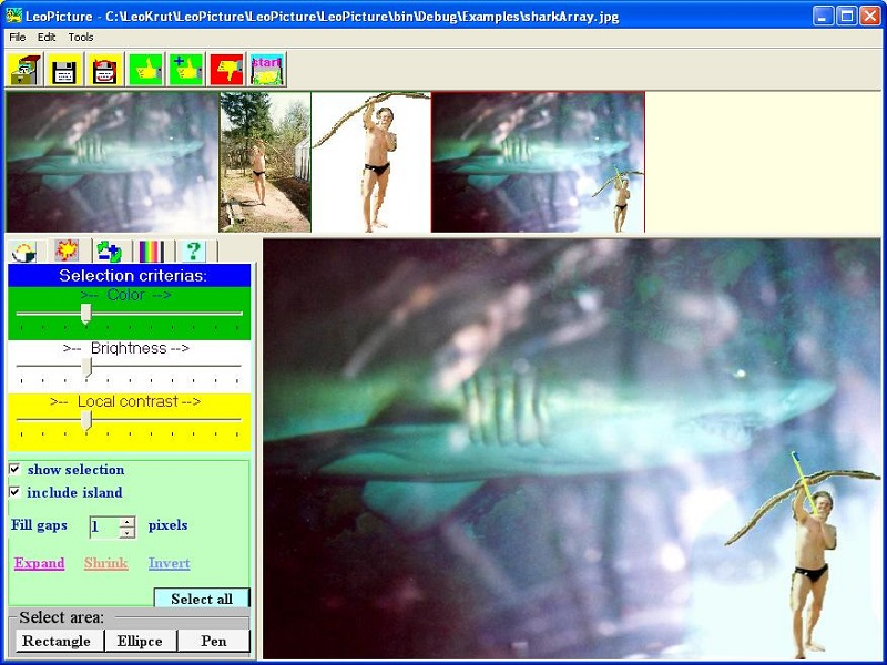 Images enhancement painting in deform zoom label colorimeter. well known Screen Shot
